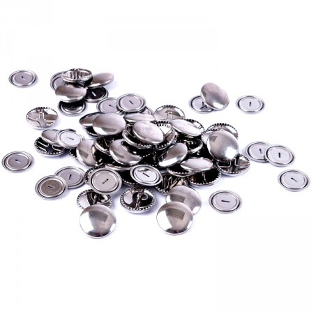 Knapper Self Cover Buttons metall 19mm storpakk