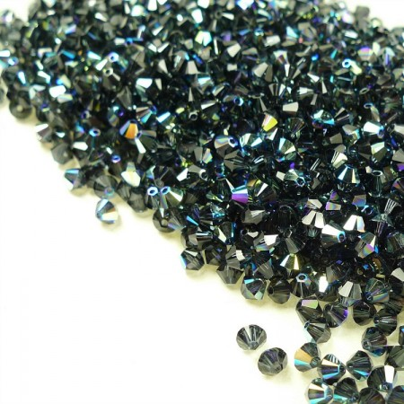 Swarovski Beads 5328/4mm/253 Graphite AB