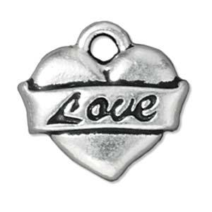 Charms Hjerte m.LOVE