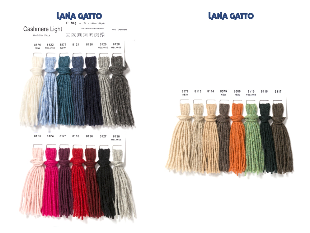Fargekart Lasna Gatto Cashmere LIght